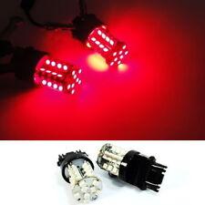 2 PCS of 3157 3156 3457 3057 RED 40 SMD LED Brake Light High Power Bulb For FORD