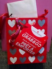 American Greetings Heart Grab & Go Gift Bag w/ Bow & Tissue Paper New