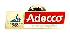 Pin Spilla Olimpiadi Torino 2006 Sponsors - Adecco Composit Logo English Version