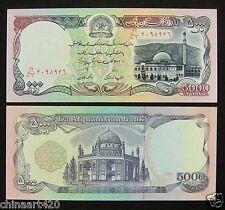 Afghanistan 5000 Afghanis BANKNOTE 1993 UNC