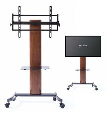 TransDeco TV Stand with Mount Wheels Entertainment Console for up to 70 Inch LCD