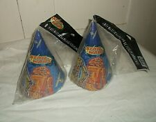 NEW 2 Packages Party Express STAR WARS Paper Party Hats C3-P0 R2-D2 16 Total