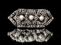 Art Deco marcasite silver brooch.