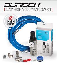 """Manguera de aire de flujo alto volumen Trampa De Agua 1/2"""" BSP PCL Regulador Kit"""