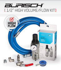 "High Volume Flow Air hose PCL Regulator Water Trap 1/2"" BSP kit"