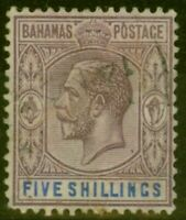 Bahamas 1924 5s Dull Purple & Blue SG124 Fine Used