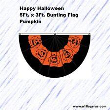 5x3ft Halloween Bunting (Pumpkin) Flag