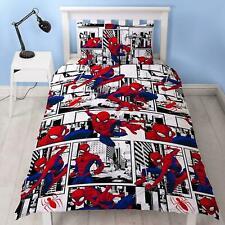 Marvel Spider-man 'Metropolis' Single Duvet - Reversible Cover Quilt Bedding Set