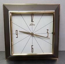mid century design clock 60s - Wanduhr elektromechanische Quartz Wand Uhr Lubra