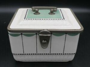 VTG Art Deco Hinged Biscuit Barrel w/latch #7351 Beehive Mark EXC!!!