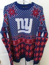 NFL New York Giants Christmas Sweater NWT Brand New $70 Large