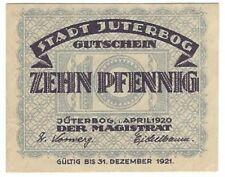 Notgeld - Stadt Jüterbog - 10 Pfennig 1920