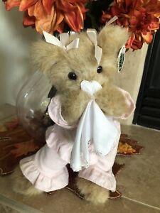 "Bearington Bears SICKY VICKY #171300 Plush 11"" 🐻Get Well Soon! Pink PJ's MWT"