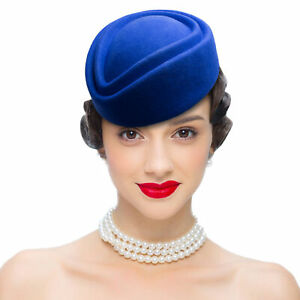 Wool Air Stewardess Womens Fascinator Base Pillbox Hat Millinery Craft A049
