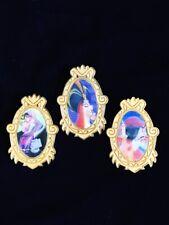 Disney Le 5000 Villains Jafar Hook Ratigan Lenticular Gold Oval Frame Pin Lot