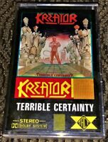 Kreator - Terrible Certainty. Cassette Tape Plays Well Thrash Metal Rare TACT