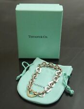 Authentic Tiffany & Co. Bracelet Combi Heart 750 K18 Yellow Gold #9579