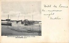 1907 Jamaica Bay at Flood Tide Inwood LI NY post card