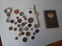 Job Lot Australian & World Coins, Badges, Pins, Token & Watch