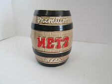 "Premium Metz Beer Coin Bank Omaha NE 6"" One Sided Sign Statue Bar Keg Display"