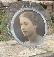 Exceptionnel Cadre pour Photo 1940 Verre & Metal Art Deco Photo Holder
