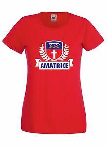 T-shirt Maglietta donna AMA02 Raccolta Fondi Ricostruzione Comune Amatrice