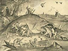 HEYDEN BRUEGEL FLEMISH BIG EAT LITTLE FISH OLD ART PAINTING POSTER BB5692A