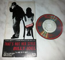 """CD BILLY JOEL - THAT'S NOT HER STYLE - CSDS 8159 - JAPAN 3"""" INCH - SINGLE"""