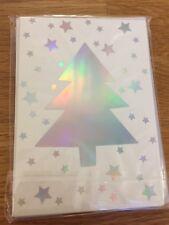Lot 5 cartes doubles Joyeux Noël Bonne Année avec enveloppe Merry Christmas