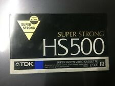 TDK HS500 Super Avilyn Video Cassette L-500 BETA NOS