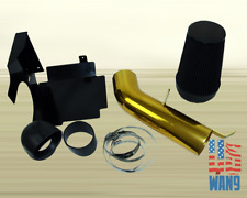 1999+Chevy Silverado 1500 2500HD 3500 Cold Air Intake Gold+Heat Shield Filter