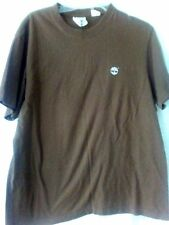 Timberland Stratham Issue T-Shirt Graphic Logo Tree Brown Cotton Short Sleeve L