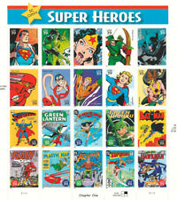 "USPS Stamps One Pane ""Super Heroes"" Chapter One 39 Cent 2005 MNH"