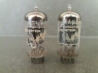 Matched pair of Amperex ECC82 12AU7 Bugle Boy made in Holland tested Amplitrex