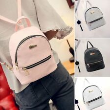 Women Girl's Leather Backpack Shoulder School Book Travel Handbag Rucksack Bags