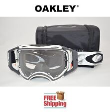 OAKLEY® AIRBRAKE™ GOGGLES MX ATV MOTOCROSS MOTORCYCLE DIRT MATTE WHITE & BAG NEW
