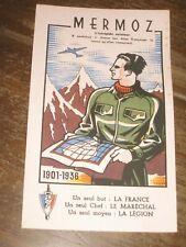 buvard ancien Pétain légion française des combattants  vichy propagande mermoz