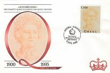 (88225) Ghana FDC Queen Mother 95th Birthday - Accra 9 July 1995