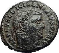 LICINIUS I Authentic Ancient Original 313AD Roman Coin w JUPITER & EAGLE  i67673