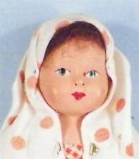 Vintage Latvian Girl Doll Composition Head Cloth Body Latvia