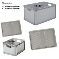 Robustobox Stapelbox Aufbewahrungsbox Spar-Set 2 Boxen mit Deckel