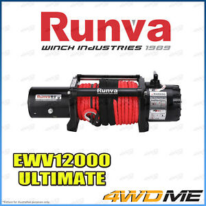 RUNVA EWV12000 ULTIMATE 12000lbs/5443kgs 12V W/SYNTHETIC ROPE Recovery Winch 4WD