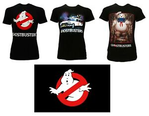 T-Shirt Ghostbusters Original Tricot Shirt Guimauve Ecto-1 Logo Noir
