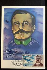 LOUIS BLERIOT 1972 CARTE MAXIMUM MONACO Premier Jour 1° FDC Yt 910