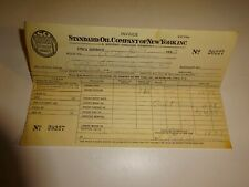 original 1933 Standard Oil Company of New York SOCONY Invoice Receipt 20227 Gas