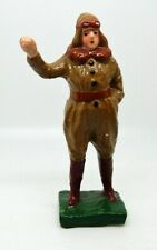 Antique 1930s Composition Aviator Figurine Made in Japan