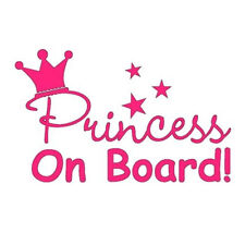 1pc Princess on Board Car Window Truck Bumper Auto Notebook Laptop Sticker Pink