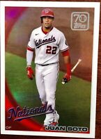 2021 Topps Series 1 Juan Soto 70 Years of Topps Chrome 70YTC-60 Nationals