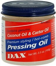 DAX Coconut Oil and Castor Oil Premium Styling Hot Comb Pressing Oil 3.5oz