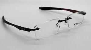 Oakley RX Eyeglasses Evade 22-172 Matte Black / Red 53-18-133 Titanium